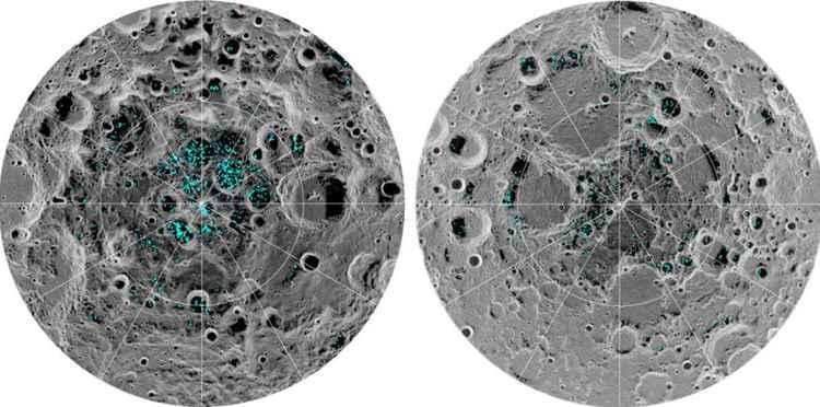 Nasa descobre que a lua tem dois depósitos de gelo
