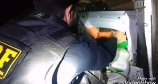 PRF prende na BR 381, casal que transportava drogas com destino à Montes Claros