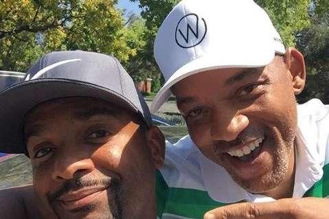 Will Smith e Alfonso Ribeiro, o Carlton Banks no seriado, se reuniram e fizeram questão de registrar o momento nas redes sociais.