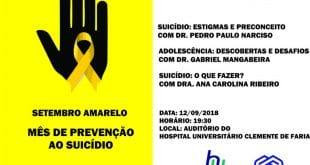 Em Montes Claros, palestras discutem o suicídio e o Setembro Amarelo