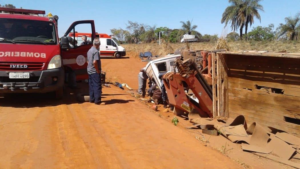 Acidente deixa cinco pessoas feridas em Brasilândia de Minas - Foto: CBMMG