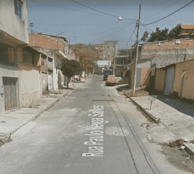 A vítima foi atacada nesta rua da Vila Pinho