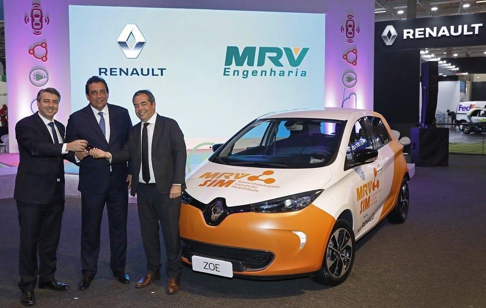 MRV e Renault apresenta projeto de carro elétrica compartilhada em condomínios com energia solar