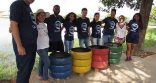 Montes Claros - Lagoa do Interlagos ganha lixeiras ecológicas e arborização