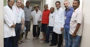 Doutores Luiz da Paixão, Gustavo Carvalho, Evaldo Jener e Sérgio Rametta durante a ação.