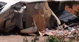 Acidente entre duas carretas deixa um morto em Grão Mogol, no Norte de Minas - Foto: CBMMG/Divulgação