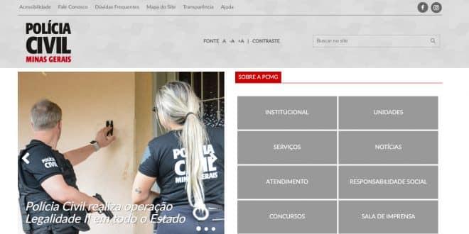 Polícia Civil de Minas Gerais disponibiliza novo site para a população