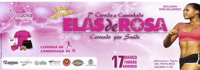 Montes Claros - Abertas as inscrições para a sétima corrida e caminhada Elas de Rosa