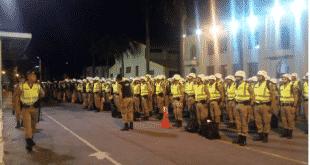 Policiais deixaram o batalhão durante a madrugada para seguir para Brumadinho