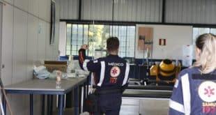 Samu de várias cidades montam hospital de campanha na Faculdade Asa para prestar os primeiros atendimentos