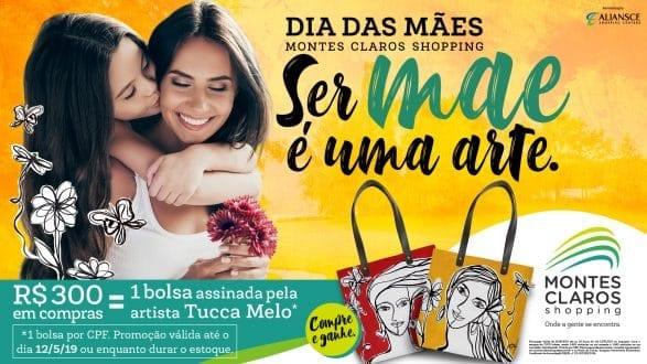 Montes Claros Shopping homenageia mães com peça assinada por Tucca Melo