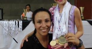 A ginasta disputou na categoria Kids, nas modalidades mãos livres, bola, arco e fita; ao todo ela levou para casa seis medalhas.
