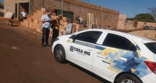 Montes Claros - Crea Minas fiscaliza obras e empresas em Montes Claros