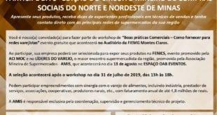 Montes Claros - Workshop capacita e abre seleção para 3º Circuito Mineiro de Compras Sociais