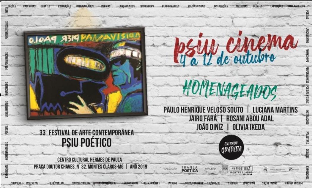 Montes Claros - 33° Festival de Arte Contemporânea Psiu Poético; Confira a programação do evento