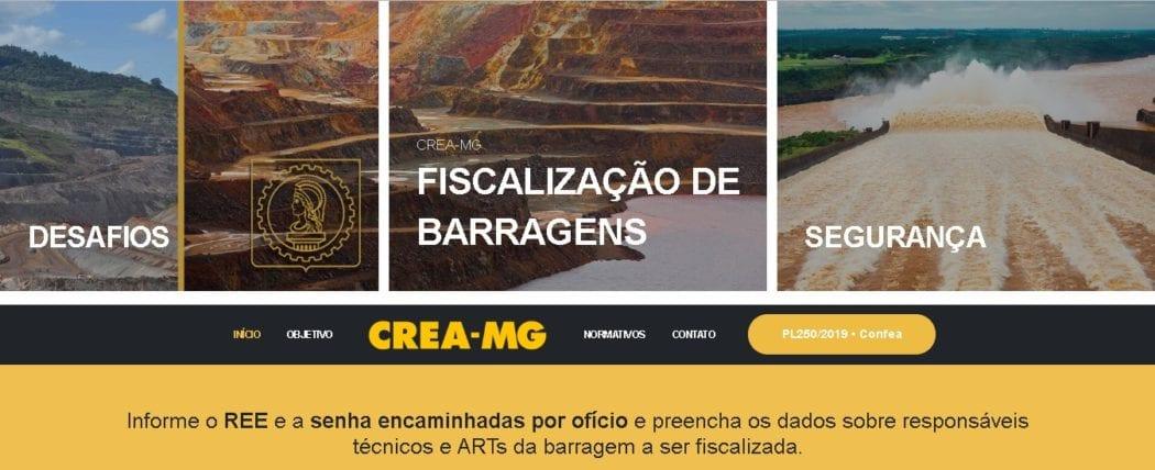 MG - Crea Minas Gerais lança plataforma digital para fiscalizar barragens