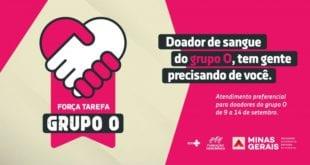 Montes Claros - Hemominas promove campanha Força Tarefa Grupo O