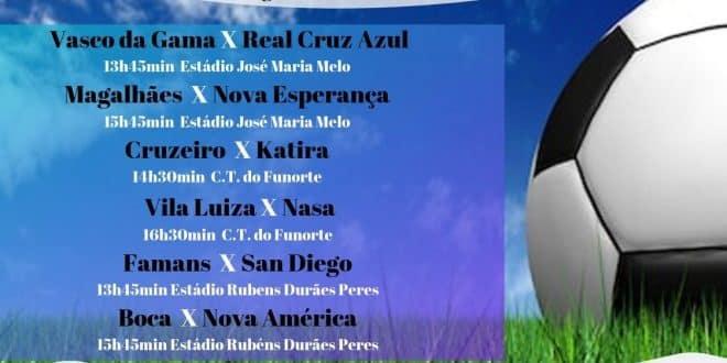 Montes Claros - 5º rodada do torneio de Futebol Amador, acontece neste sábado