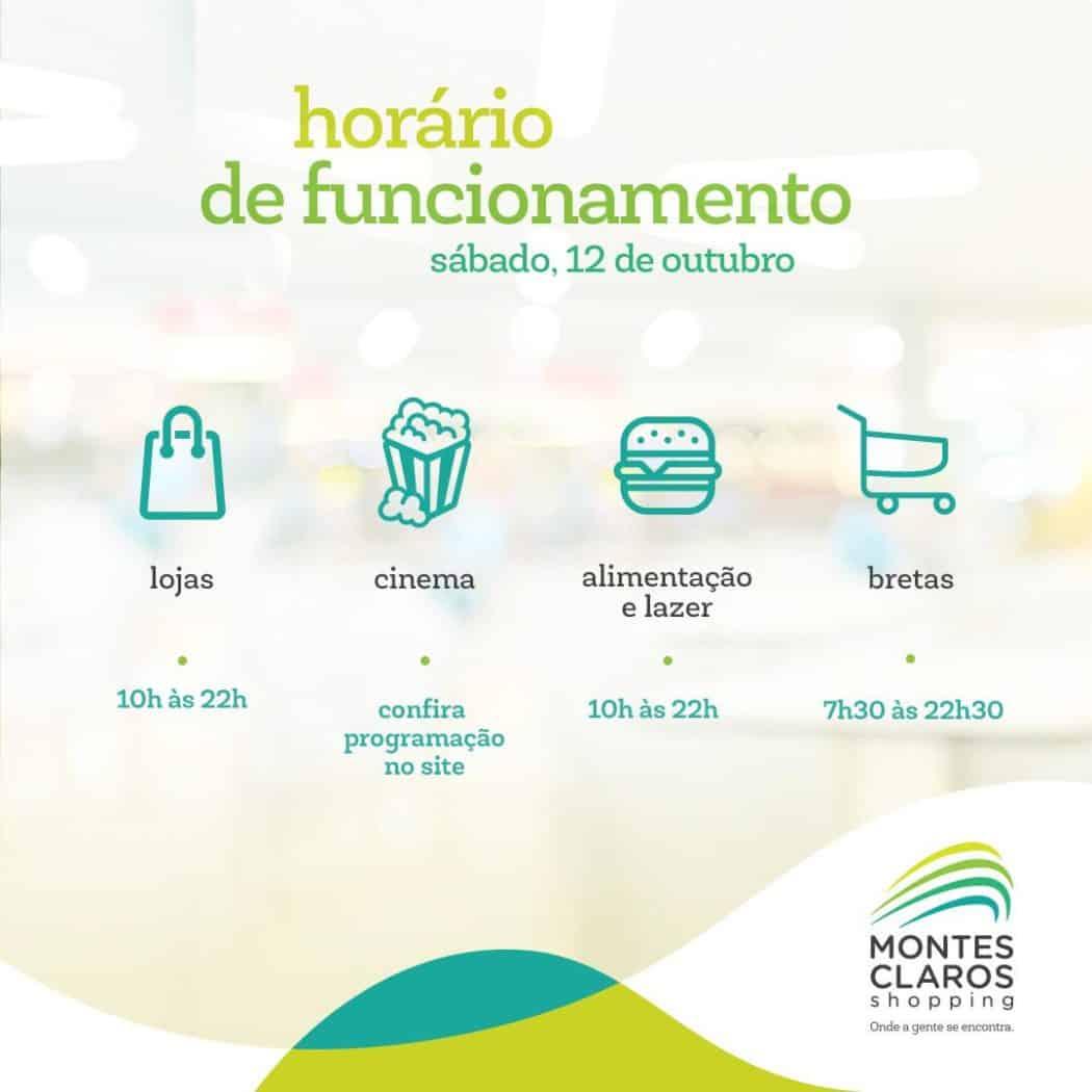 Montes Claros - Horário de funcionamento do Montes Claros Shopping no feriado