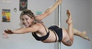 Rosiane Alves, que teve câncer de mama e associou o tratamento a pratica de pole dance, reduzindo efeitos colaterais dos medicamentos