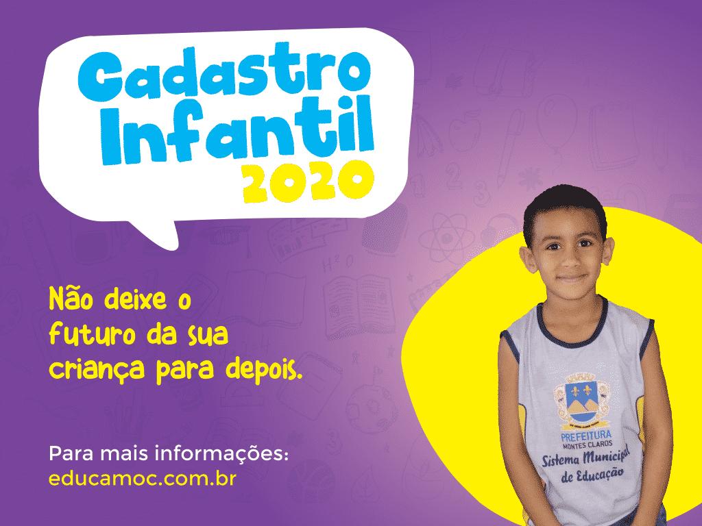 Montes Claros - Prefeitura de Montes Claros abre inscrições para o Cadastro de Vagas da Educação Infantil/2020