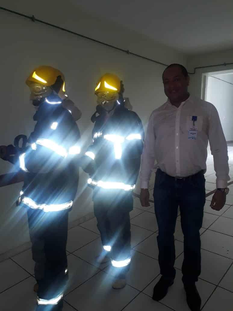 Norte de Minas - Bombeiros realizam simulação de evacuação em situação de incêndio no Hospital de Januária