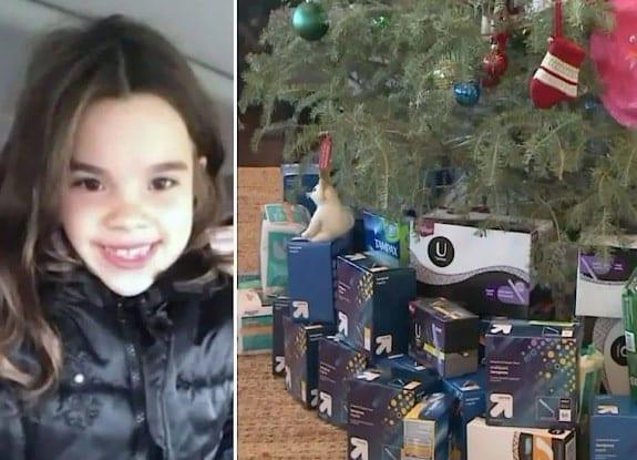 Garotinha de 7 anos pede ao Papai Noel produtos de higiene para mulheres de rua