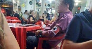 MG - Homem vai a bar no interior de Minas com suástica no braço e imagem repercute nas redes sociais