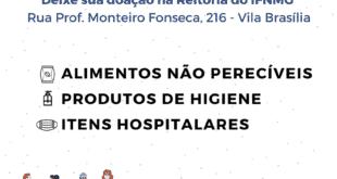 Montes Claros - A reitoria do IFNMG inicia campanha para receber doações para famílias carentes