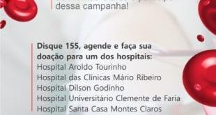 Montes Claros - Hospitais de Montes Claros se unem e incentivam doação de sangue para o Hemominas