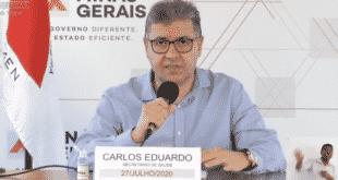 O secretário de Estado de Saúde, Carlos Eduardo Amaral