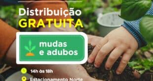 Montes Claros - Dia da Árvore é comemorado com distribuição de mudas e adubo no Montes Claros Shopping